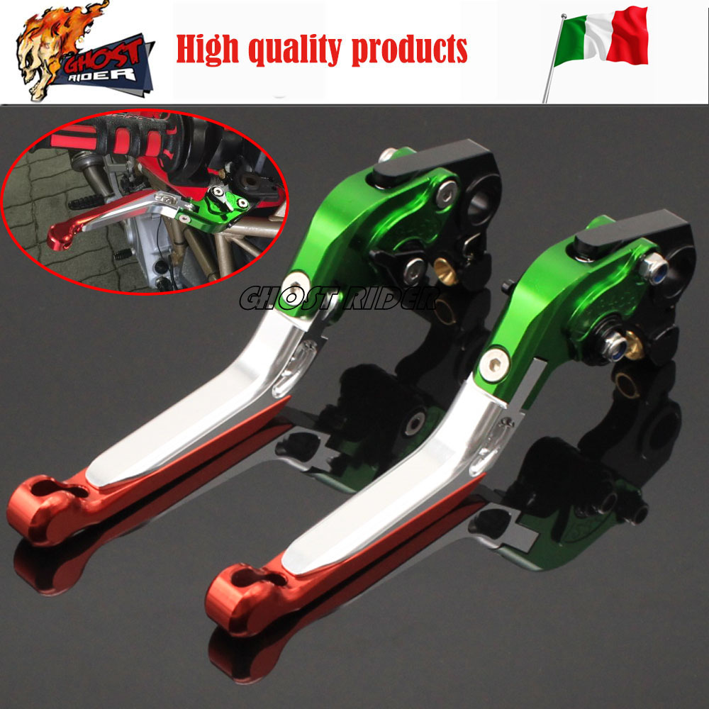 ФОТО fits for DUCATI MONSTER 659 696 796 Motorcycle Accessories CNC Billet Aluminum Folding Extendable Brake Clutch Levers