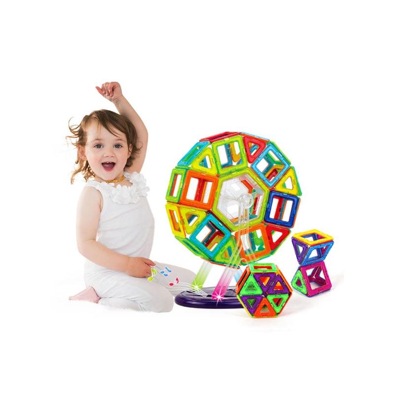 ФОТО Mini 86PCS Magnetic building blocks construction magnetic Designer toys model build kits toy for children building blocks magnet