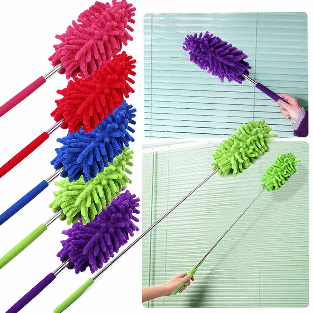 Telescopic Soft Microfiber Duster Brush Dust Cleaner Static Anti Dusting Brush Home Air-condition Car Furniture Cleaning #F