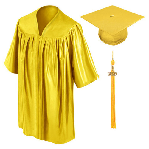 Gold graduation gown cap and gown-Be.Fore