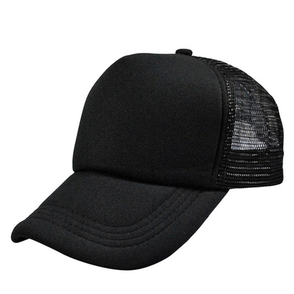 a030592477c02 Detail Feedback Questions about HOT DIY Plain Color Blank Hand Drawing Adjustable  Baseball Caps Solid Trucker Mesh Blank Curved Visor Outdoor Shading Sun ...