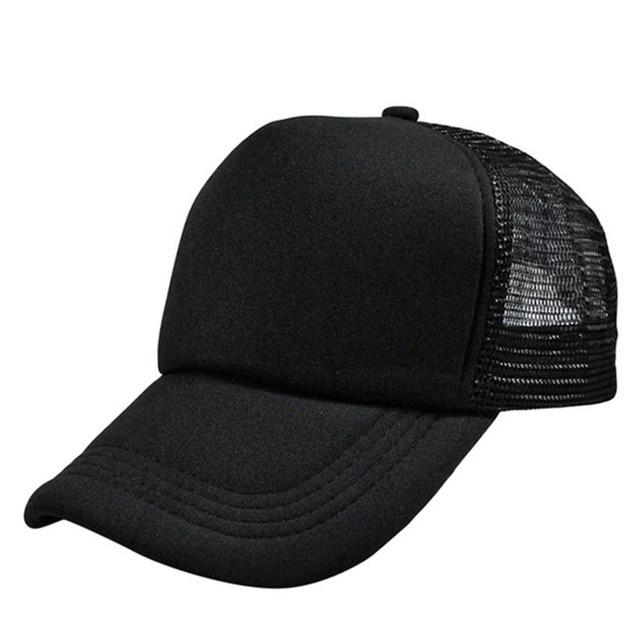 080beb0240f HOT DIY Plain Color Blank Hand Drawing Adjustable Baseball Caps Solid  Trucker Mesh Blank Curved Visor
