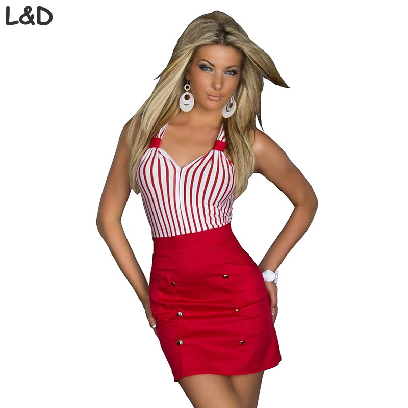 5c4aaad29fc2 Hot Sale New 2018 Fashion Plus size Women Clothing Striped Bodycon Sexy  Dress Girl Party Mini