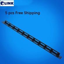 """5 шт. 1"""" 0.5U PDU кабель управления сталь для шкафов Сетевой провод Органайзер 2,0 мм толщина 19 дюймов"""