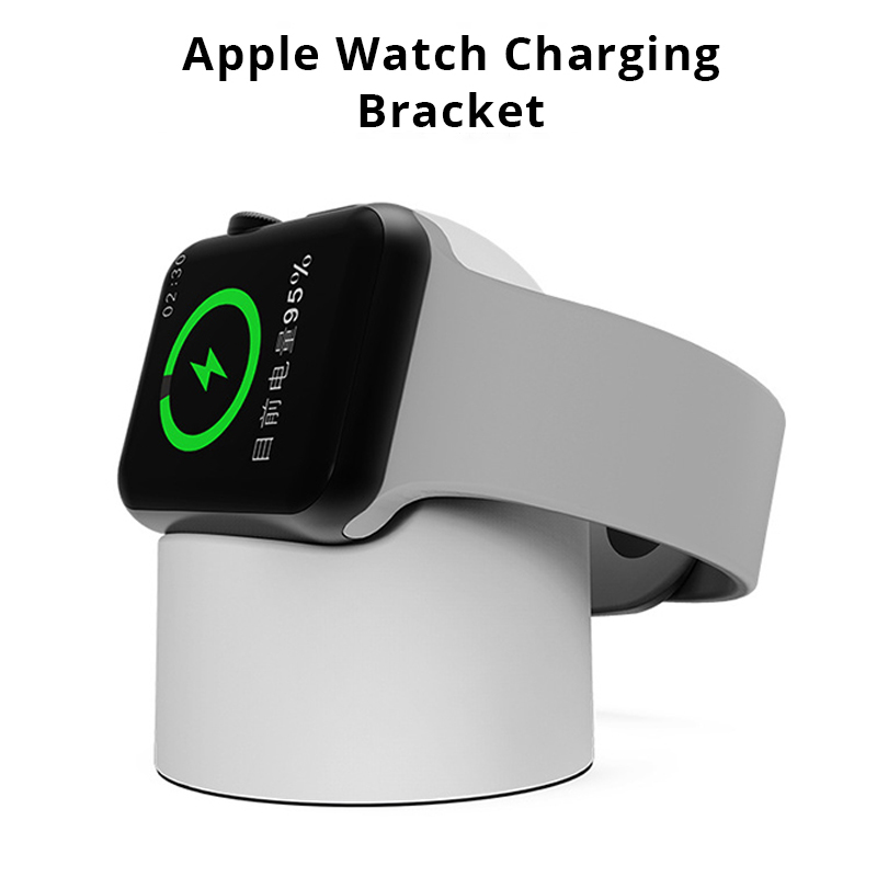 Magnetic Soft Silicone Stand Wireless Charger for iWatch1/2/3/4 Integrated Molding Base Wireless Charger for Apple Watch BracketMagnetic Soft Silicone Stand Wireless Charger for iWatch1/2/3/4 Integrated Molding Base Wireless Charger for Apple Watch Bracket