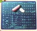 32 cm x 26 cm de Gran Tamaño XXXL Esmalte de Uñas de Arte Sello Estampado de la Imagen Plate + Free Stamper Manicura Polaco plantilla Platea DIY