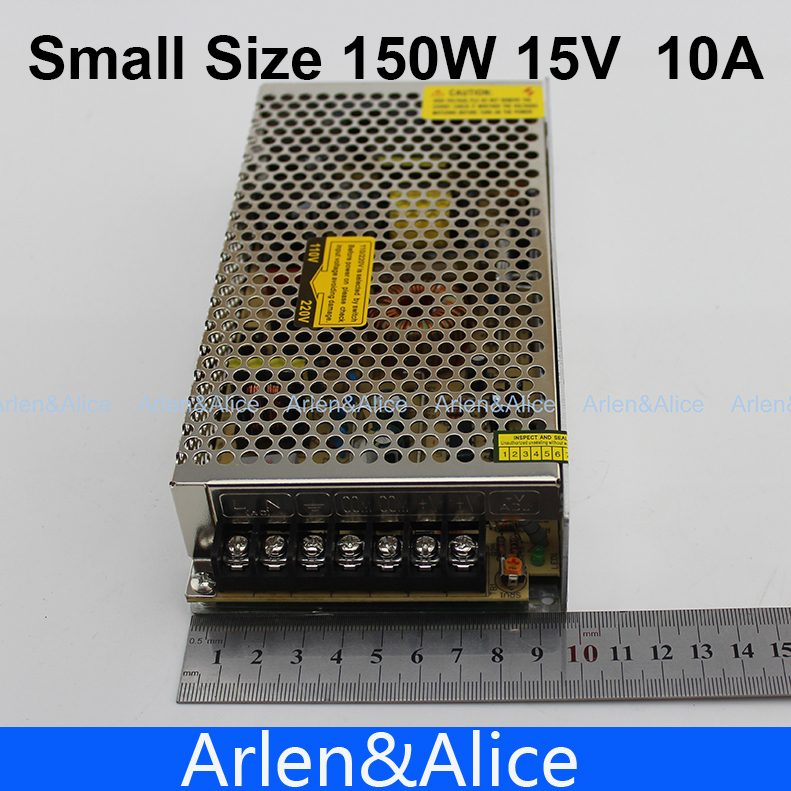 150W 15V 10A Small Volume Single Output Switching power supply for LED Strip light AC to DC