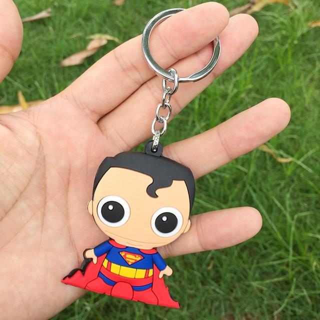 Брелок Бэтмен и Супермен ПВХ 2