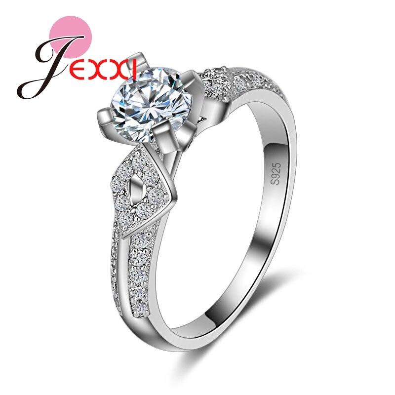 font b Luxury b font Europe Stylish Real 925 Sterling Silver Woman font b Wedding