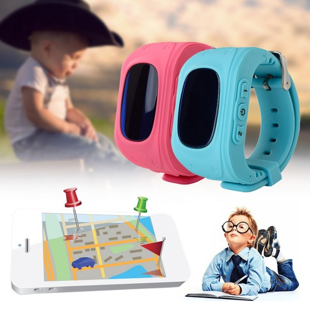 New Kids GPS Tracker Watch SOS Emergency GSM Smart Mobile Phone App For iPhone Android Phones