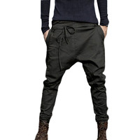 Mens Fashion Autumn Joggers Patchwork Casual Drawstring Sweatpants Work Trousers W411