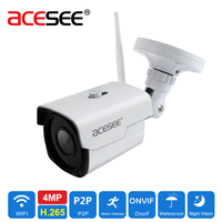 4mp Acesee Anten Wi-fi IP Kameralar Kablosuz Güvenlik Kamera HD Gece Görüş Su Geçirmez Zoom Lens ile Açık Bullet ip Webcam