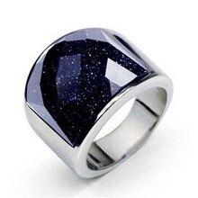 Moda luxo roxo natural pedra anéis para homem 316l aço inoxidável anéis jóias melhores amigos presentes de aniversário