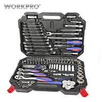 WORKPRO 123PC Home Tool Set for Car Repair Tool Set Socket Set 1/4 3/8 1/2 Ratchet Wrenches