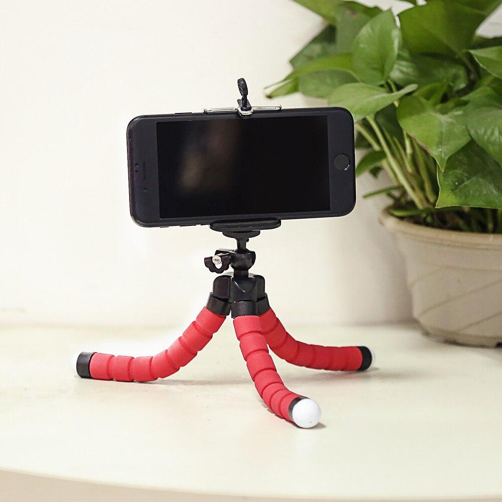 SHOOT Mini Flexible Sponge Octopus Tripod for iPhone Samsung Xiaomi Huawei Mobile Phone Smartphone Tripod for Gopro 9 8 7 Camera 5