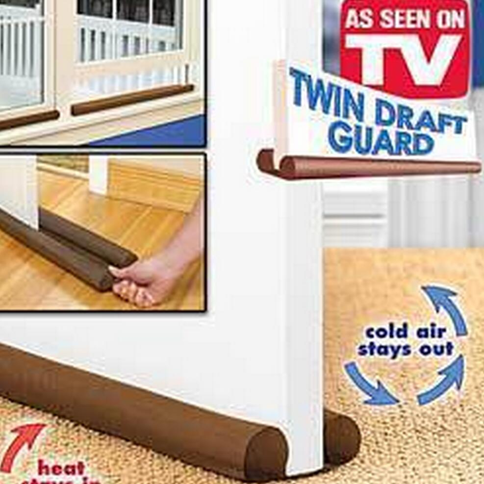 Door draft stopper - Hot Sale Brown Twin Door Draft Stopper Dual Draught Excluder Air Insulator W Indows Dodger Guard