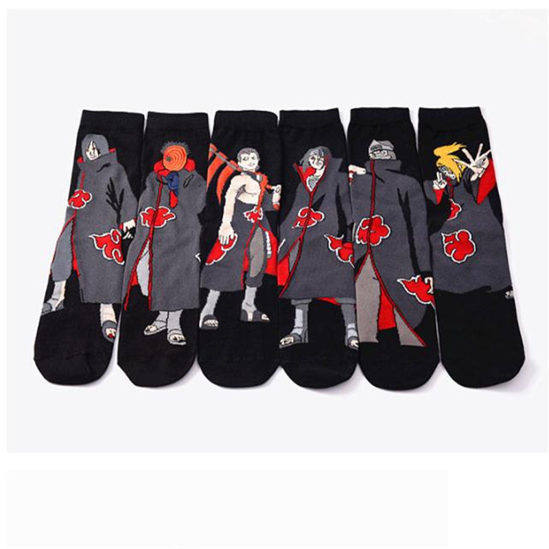 Spring Summer Cartoon Naruto Cotton Low Cut Socks Men 38-43 Size Short Sock Ankle Socks For Male