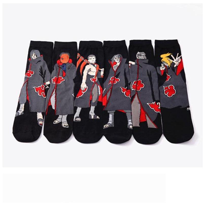 Spring Summer Cartoon Naruto Cotton Low Cut Socks Men 38-43 Size Short Sock Ankle Socks For Male