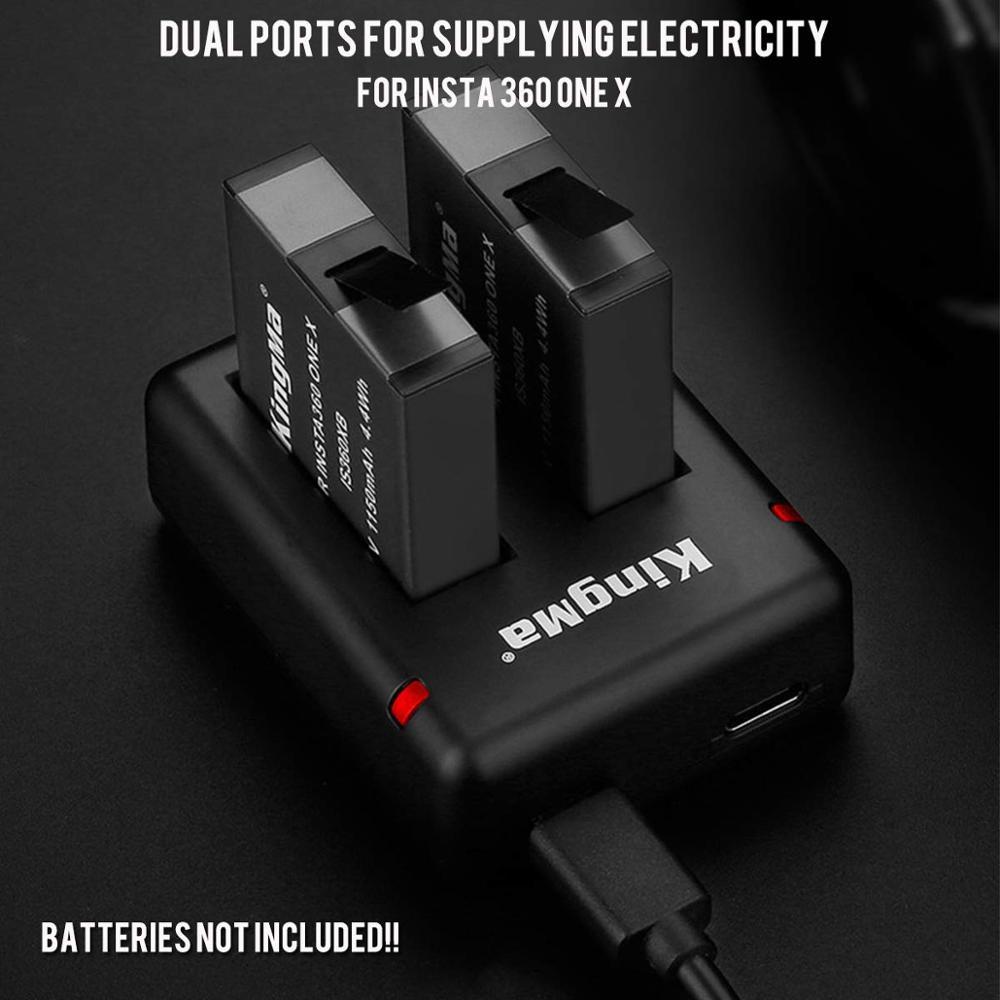 micro-USB Cámara de acción batería cargador para insta 360 one x doble cargador