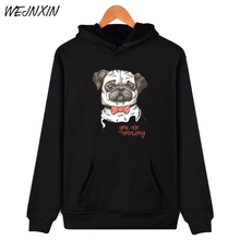 Funny Pug Dog Design Hoodies
