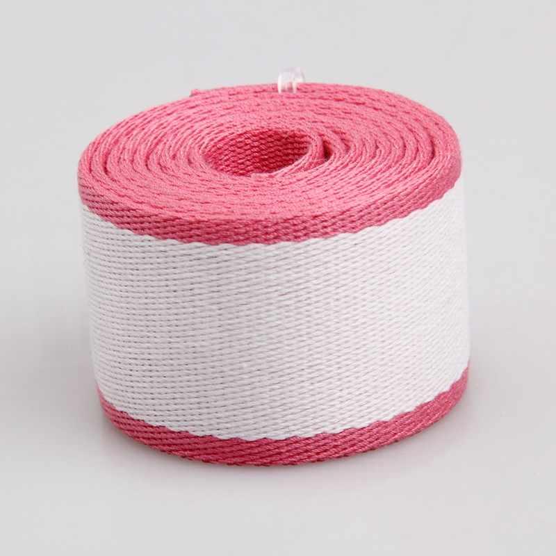 """50 мм 2 дюймов 2 """"1 шириной 2.0 мм толщиной 100% хлопковая парусина тесьма белый розовый смешанный плеча одной ручке Швейные лямки"""