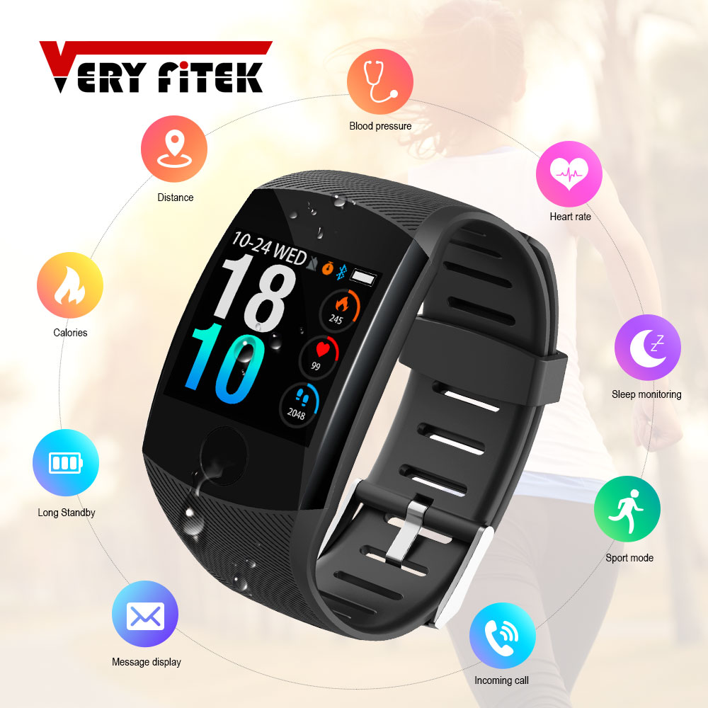 VERYFiTEK Q11 Super Lange Standby-Smart Uhr Blutdruck Herz Rate Monitor Fitness Armband Uhr Männer Frauen Smartwatch PK Q9