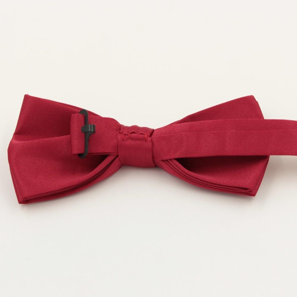 Veektie Warna Solid Mode Dasi kupu-kupu Untuk Pria Bowtie Tuxedo - Aksesori pakaian - Foto 6