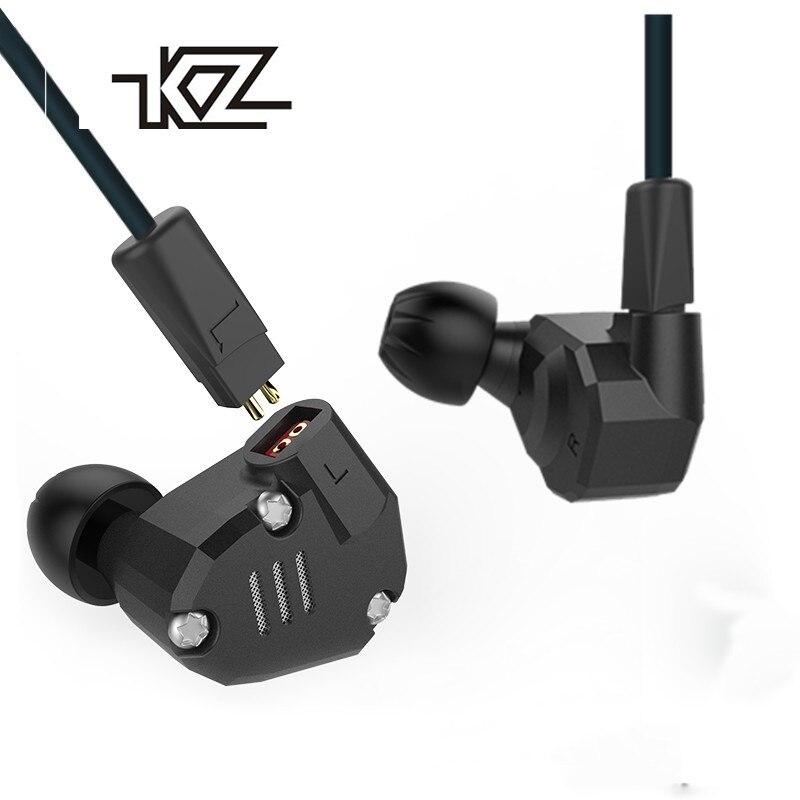 KZ ZS6 2DD + 2BA Hybride Dans L'oreille Écouteur Monito Courir Sport bluetooth Écouteur En Métal Écouteurs HIFI DJ Casque Écouteur KZ ZS5 Pro