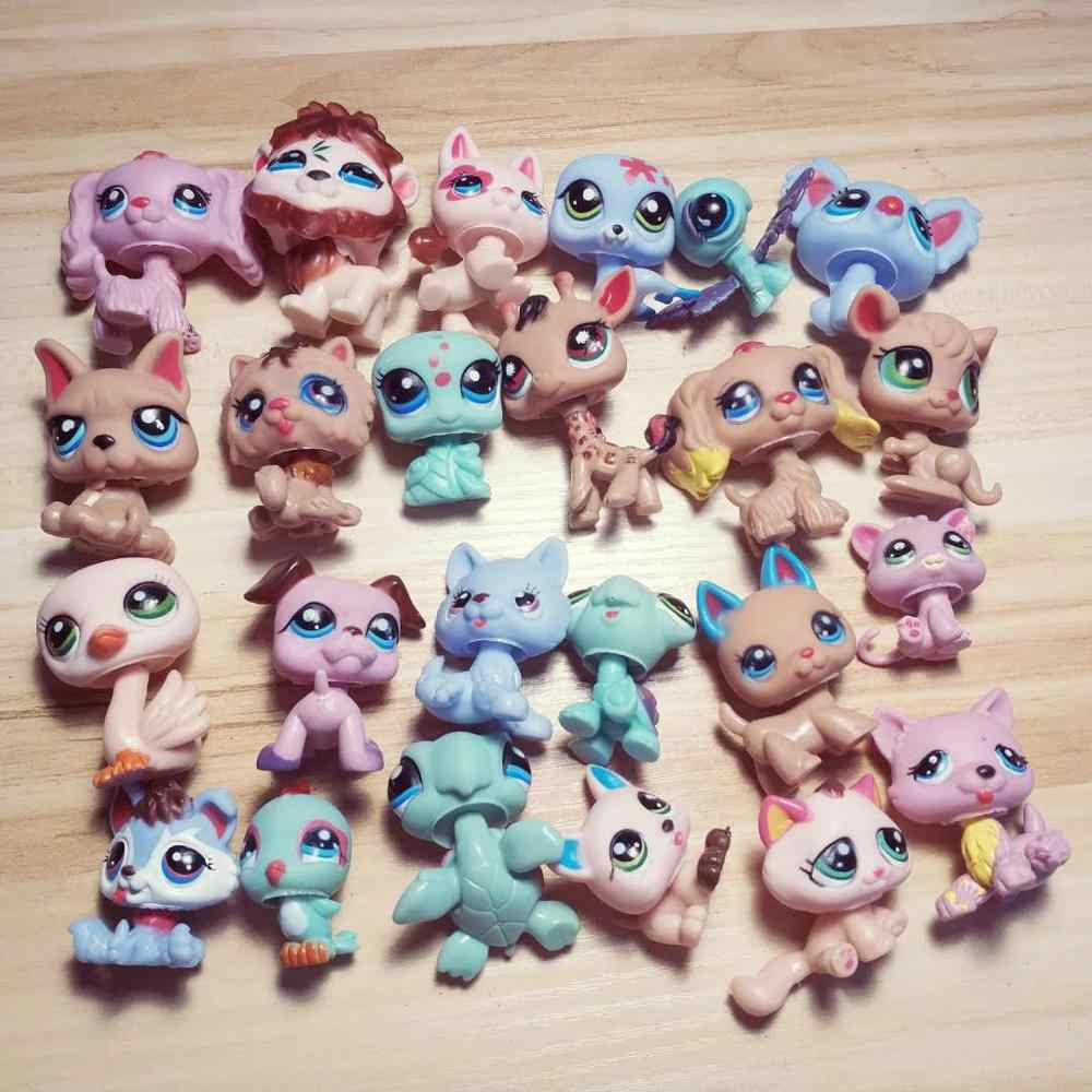 24pcs/lot LPS Pet Shop Model Action Figures Anime Christmas Unicorn PVC Kitty Dog Animal Gifts Toys Children