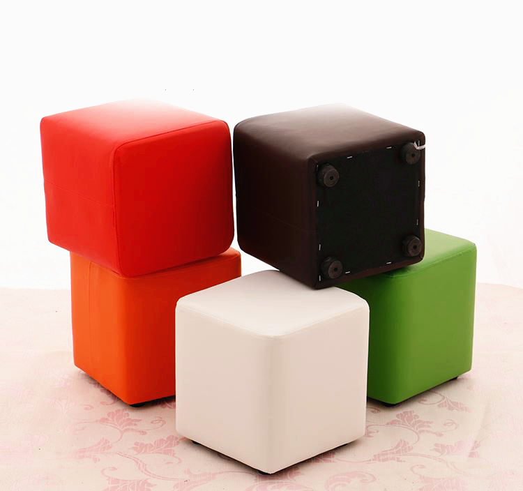 Fashion Colorful Creative Shoes Stool Living Room Office Sitting Soft PU Fabric Sofa Bench Table