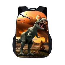 43CM monster pattern World Park Schoolbag knapsack Jurassic Dinosaur Backpack Toys For Child Travel BookBag(China)