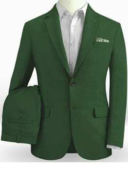Emerald Green Linen Suits Men Light Weight Beach Wedding Suits For Men Custom Made Summer Linen Suit Tailored Groom Suit 2019 - DISCOUNT ITEM  0% OFF All Category