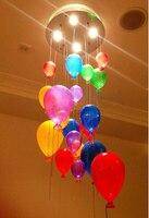 40 см Европейский современный LED Стекло висит Обеденная творческая личность шар капли дождя Шторы люстра лампа Освещение