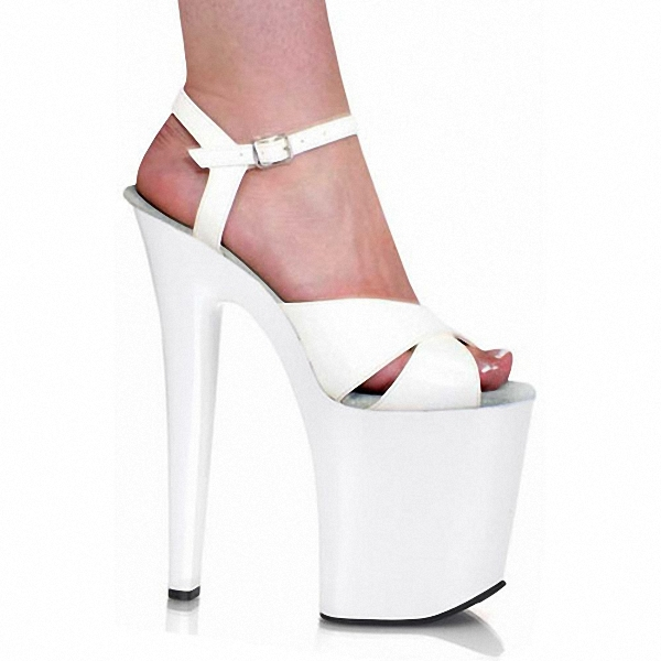 Star sexy performance shoes white bride wedding shoes ultrafine 20cm ultra high heels sandals womens 8 Inch Sexy Dancer Shoes electrolux e 210 ultra long performance