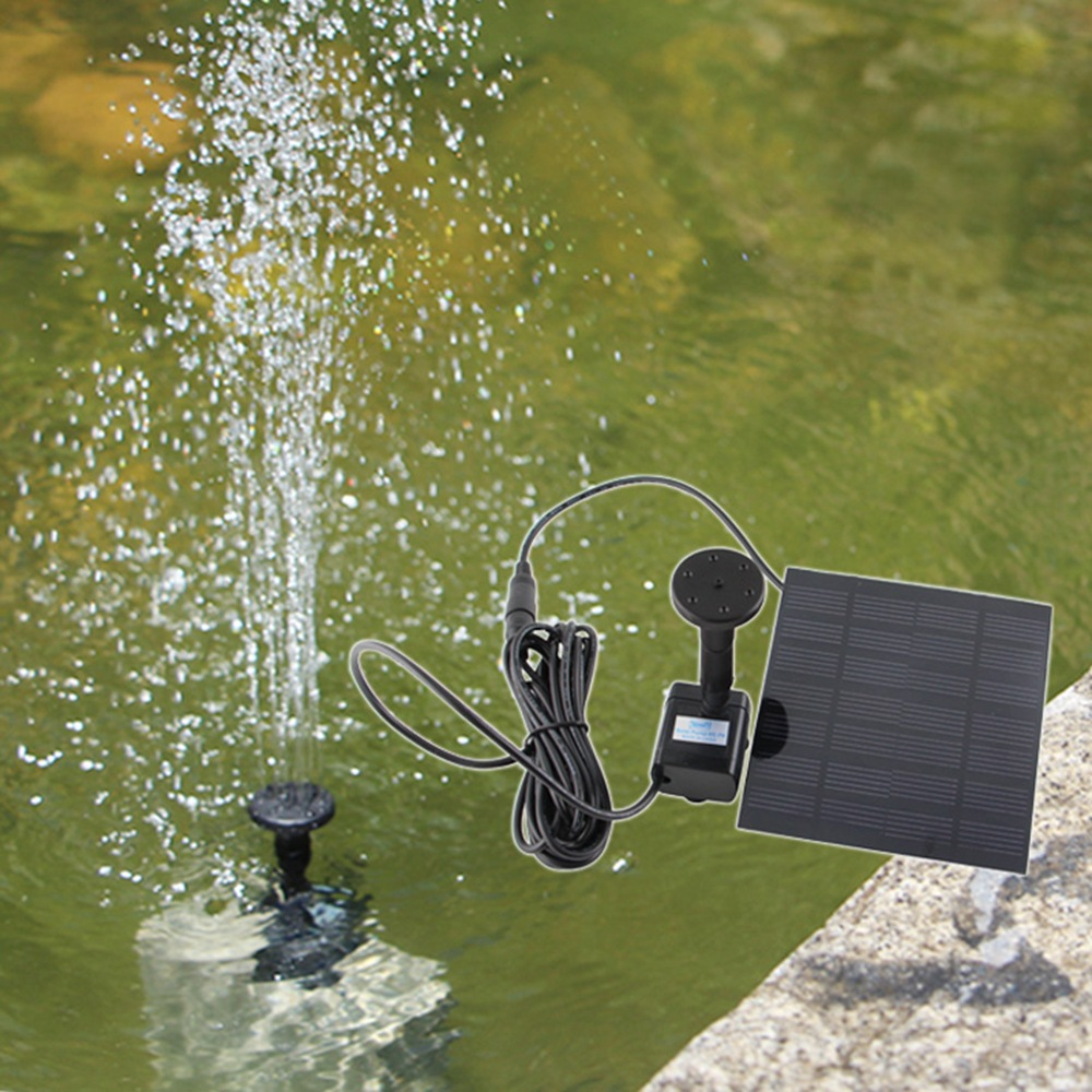 Lights & Lighting Solar Fountain Outdoor Watering Submersible Free Standing Water Pump For Garden Pool Pond Patio Watering Display Led Lamps