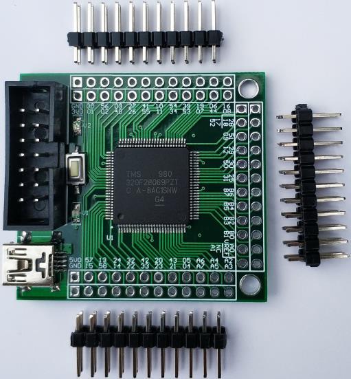 Minimum System Board/Development Board/Core Board/Four-Layer Board Size of TMS320F28069 DSP