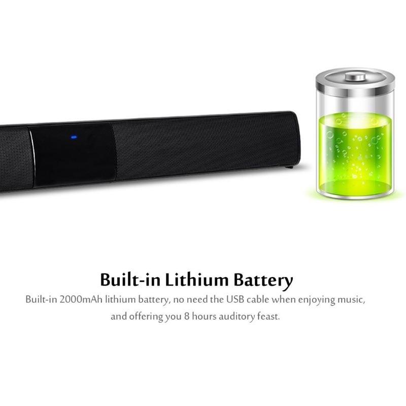 XGODY BS-28A Home cinéma Bluetooth barre de son TV Super basse stéréo haut-parleur haut-parleurs barre de son avec Subwoofer haut-parleur pour TV - 3
