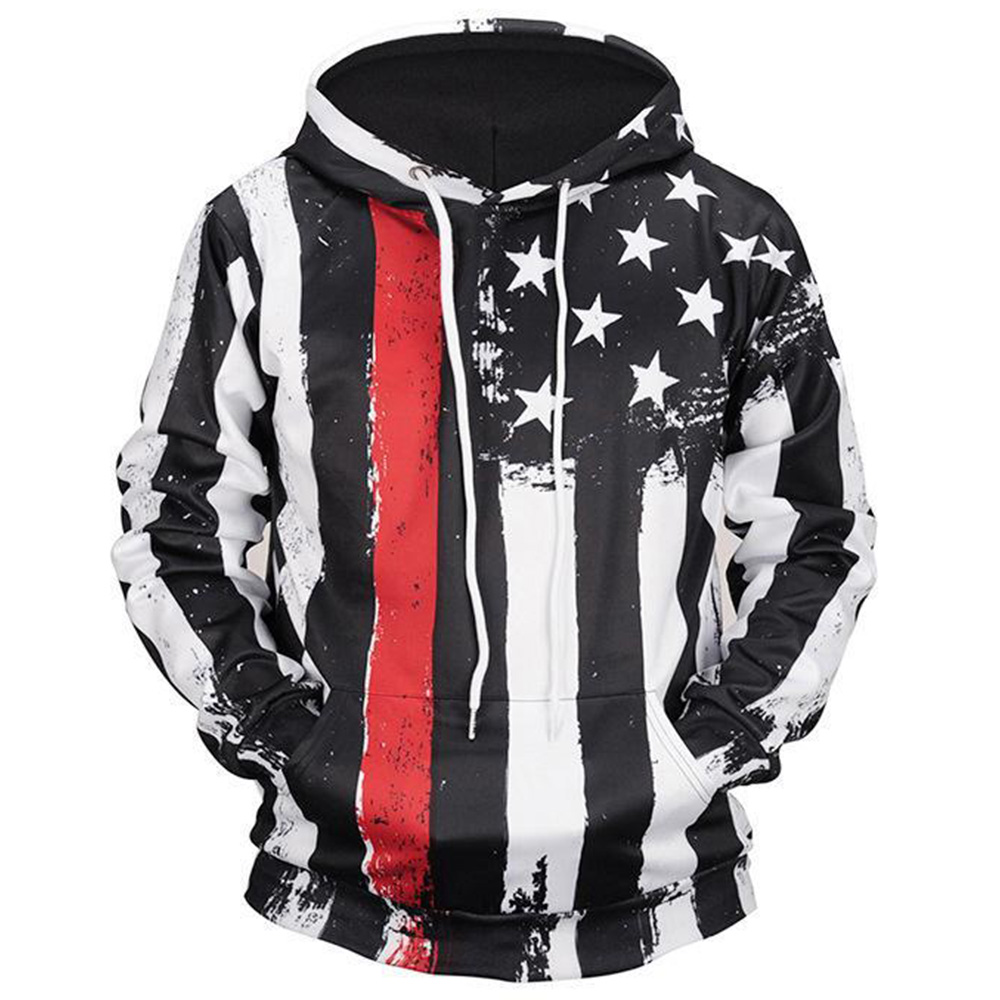 Men/'s Adult Pullover Hooded Sweatshirt Long Sleeve Casual Hooded Top Plus Size