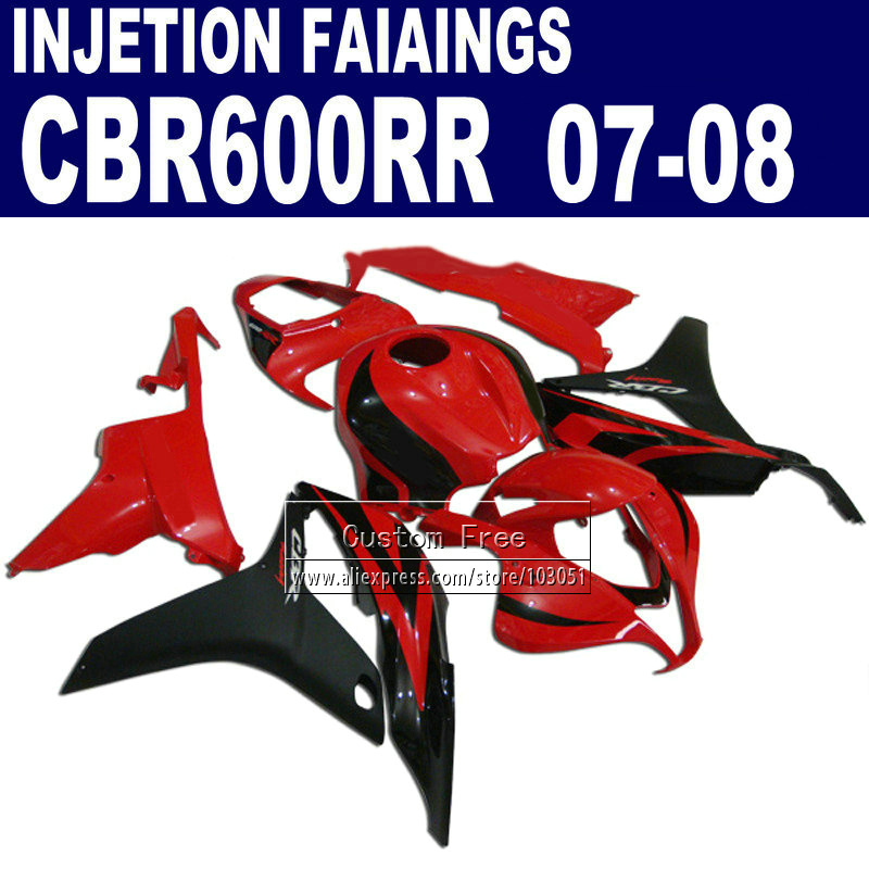 New HOT Injection fairings kits for Honda 600 RR F5 fairing set 07 08 CBR 600RR CBR 600 RR 2007 2008 red black motorcycle parts new hot moto parts fairing kit for honda cbr1000rr 06 07 green injection mold fairings set cbr1000rr 2006 2007 ra17