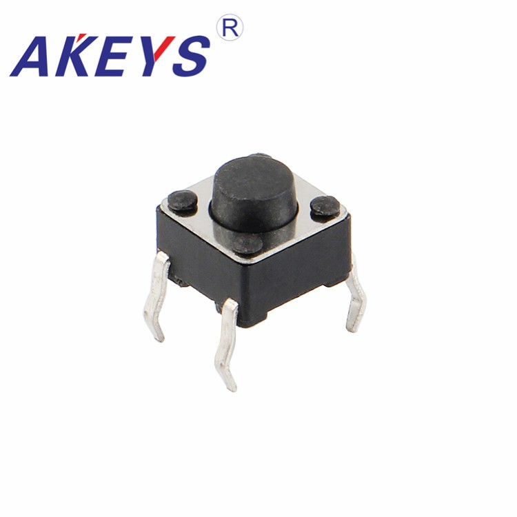 Popular Brand 200pcs Ts-d001 6*6 Black Pressure Control Switch Tact Switch 4 Pin Dip Copper Pin Push Button Switch Suitable For Men And Children Women