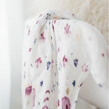Фиолетовый 70% бамбуковый хлопок детские муслин Пеленальное Одеяло новорожденных одеяла ins марли младенческой обёрточная бумага sleepsack