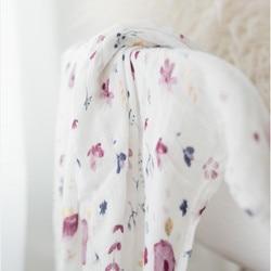 purple 70% bamboo30%cotton Baby muslin swaddle blankets diaper Newborn Blankets Gauze infant wrap sleepsack swaddleme bath towel