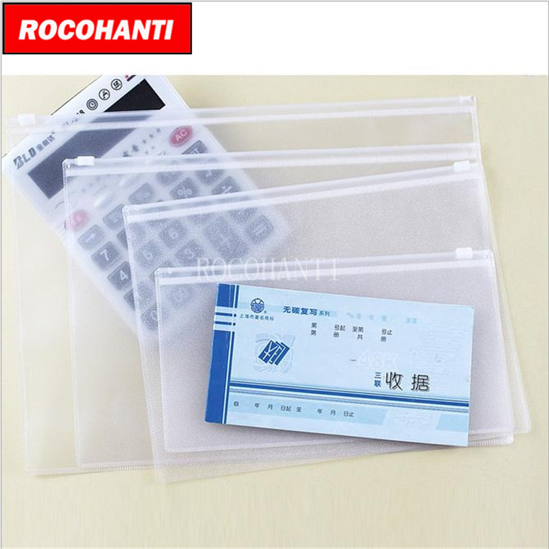 Us 5 44 20 Off 10x Waterproof Clear Pvc Zipper Bag Custom Plastic With Transpa Doent File Ng Organizer A4 B5 A5 A6 In