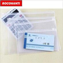 10x ماء واضح pvc البلاستيكية سستة حقيبة مخصصة حقيبة مع سحاب وثيقة ملف شفاف التعبئة المنظم a4/b5/a5/a6