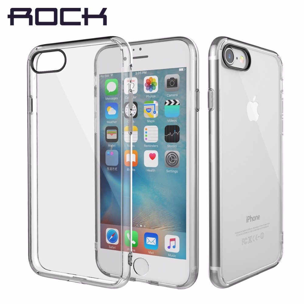US $3 64 49% OFF|ROCK Pure Series For iPhone 7 8 8 Plus 7 Plus Case,  Transparent Crystal Clear Phone Case For iPhone7 8 Back Cover Shell-in  Fitted