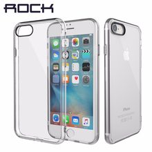 ROCK Pure Series For iPhone 7 8 8 Plus 7 Plus Case, Transparent Crystal Clear Phone Case For iPhone7 8 Back Cover Shell(China)