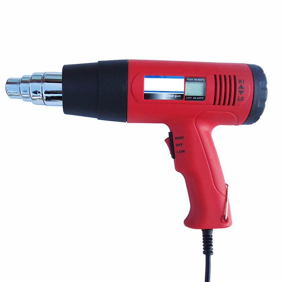 High Quality Digital LCD Display Hot Air Gun Heat Gun Excellent Heating Effect Back Cover Knob Two-position switch