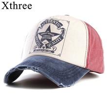 Xthree retro baseball cap women fitted cap snapback hats for men hip hop casual cap cheap