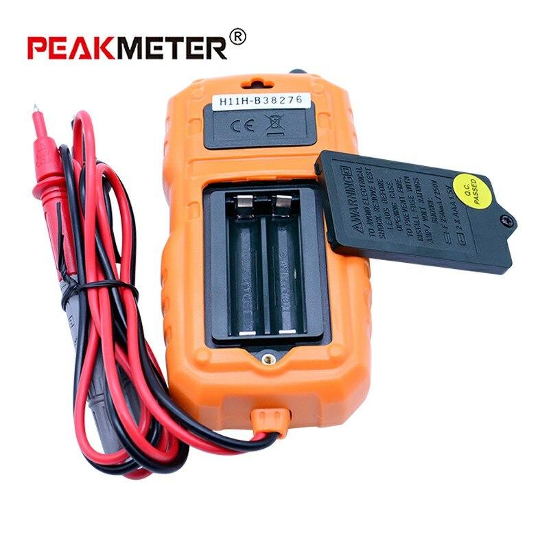 Nekontaktinis mini skaitmeninis multimetras PEAKMETER MS8232 DC - Matavimo prietaisai - Nuotrauka 5