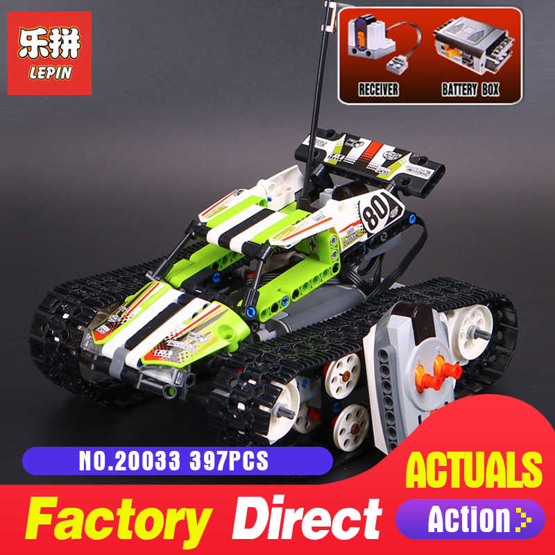 397Pcs Lepin 20033 Technic Series The RC Track Remote-control Race Car Set Building Blocks Bricks for Educational toy 42065
